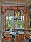 Upholstered Lambrequins over Roman Shades 2