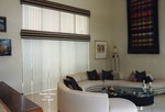 Upholstered Cornices w/ Vertical Blinds