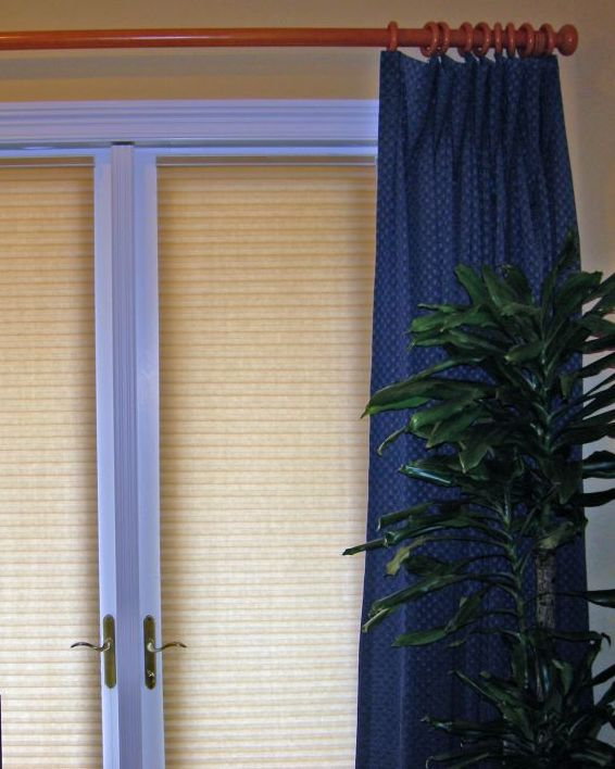 ... Window Tech :: French Door Treatments :: Honeycomb_Shades_on_French