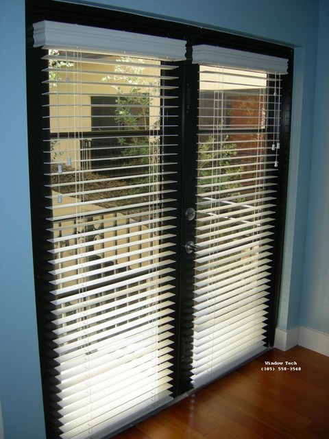 Wood Blinds Direct Install To French Doors